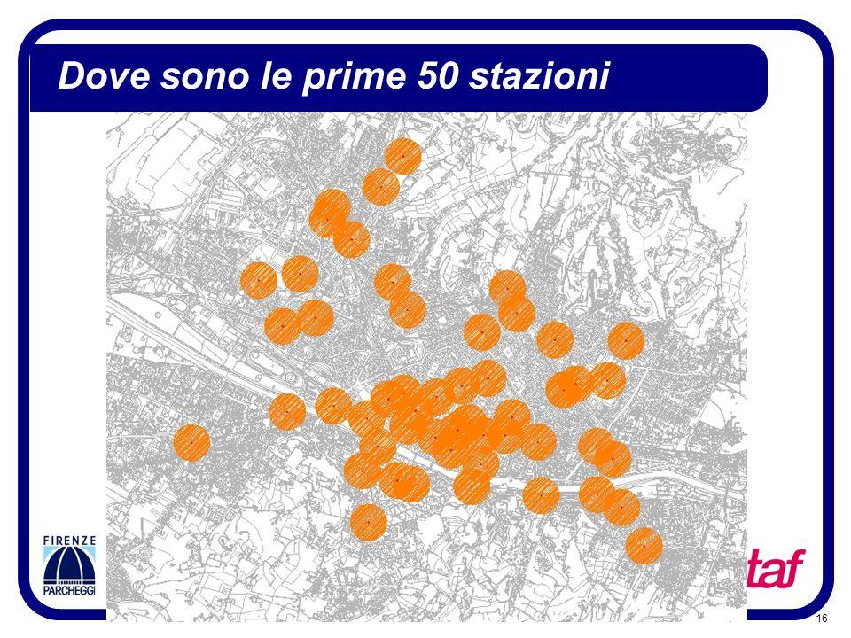 Dove sono le prime 50 stazioni