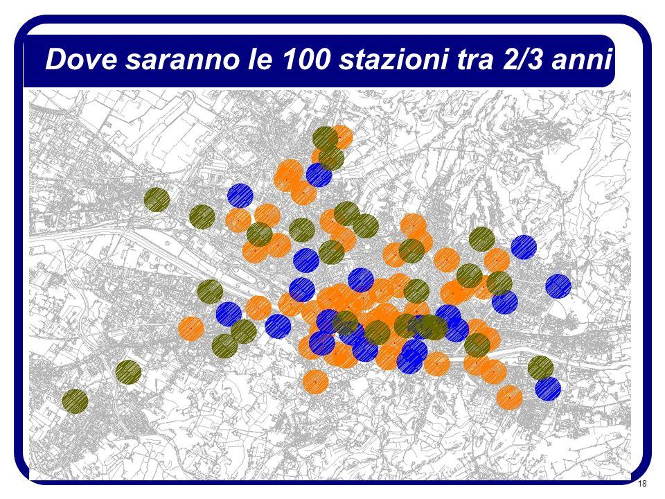 Dove saranno le 100 stazioni tra 2/3 anni