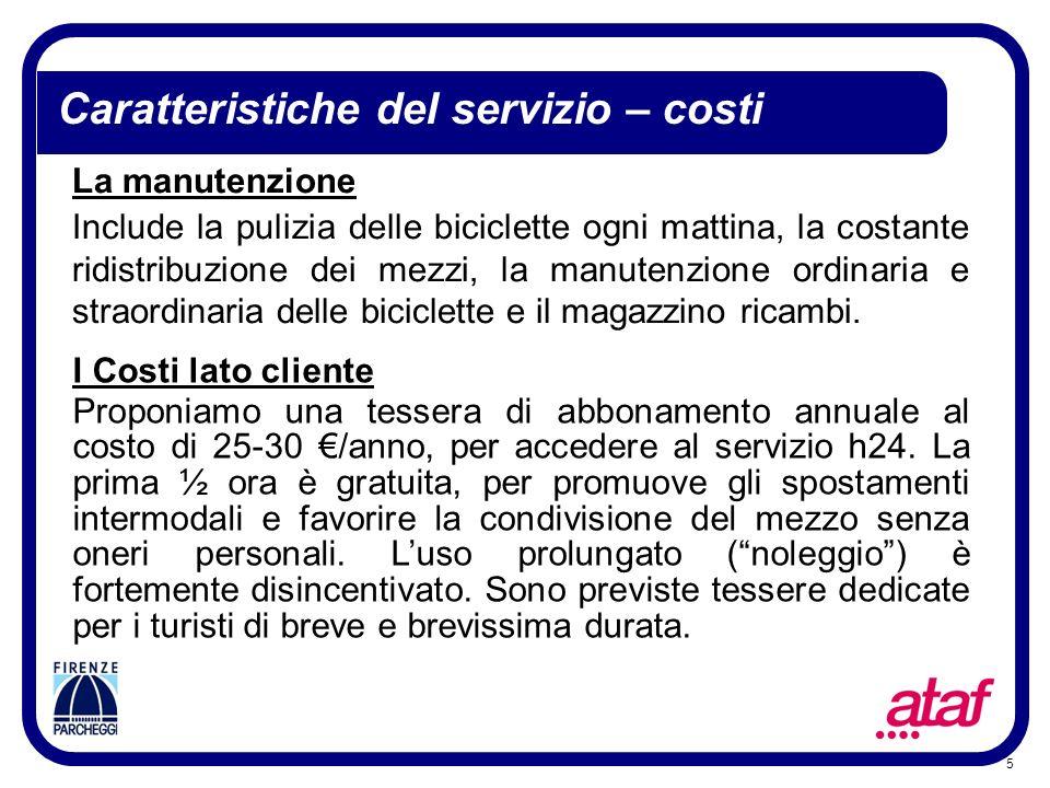 Caratteristiche del servizio – costi