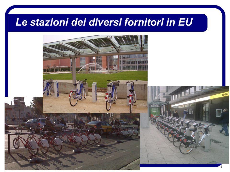 Le stazioni dei diversi fornitori in EU