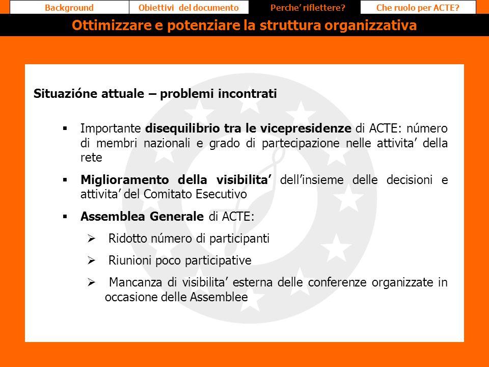 Ottimizzare e potenziare la struttura organizzativa