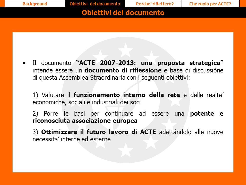 Obiettivi del documento Obiettivi del documento