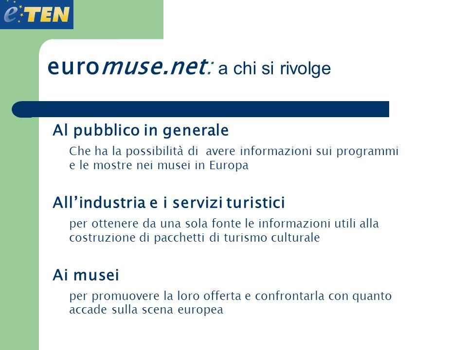 euromuse.net: a chi si rivolge