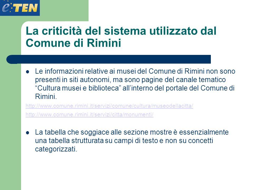 La criticità del sistema utilizzato dal Comune di Rimini