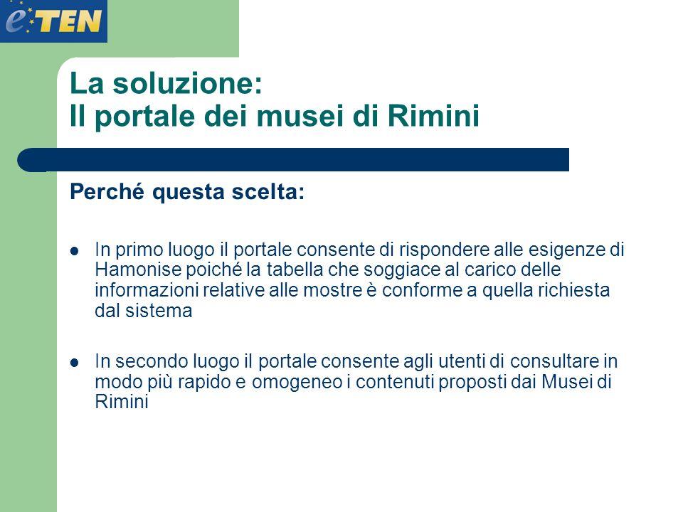 La soluzione: Il portale dei musei di Rimini