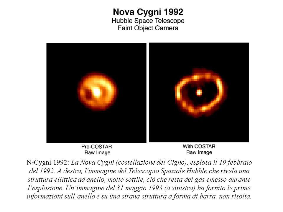 N-Cygni 1992: La Nova Cygni (costellazione del Cigno), esplosa il 19 febbraio del 1992.