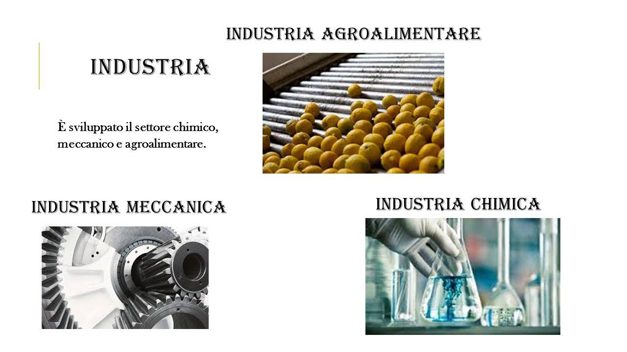 industria INDUSTRIA AGROALIMENTARE INDUSTRIA CHIMICA