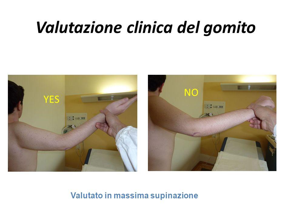 Valutazione clinica del gomito