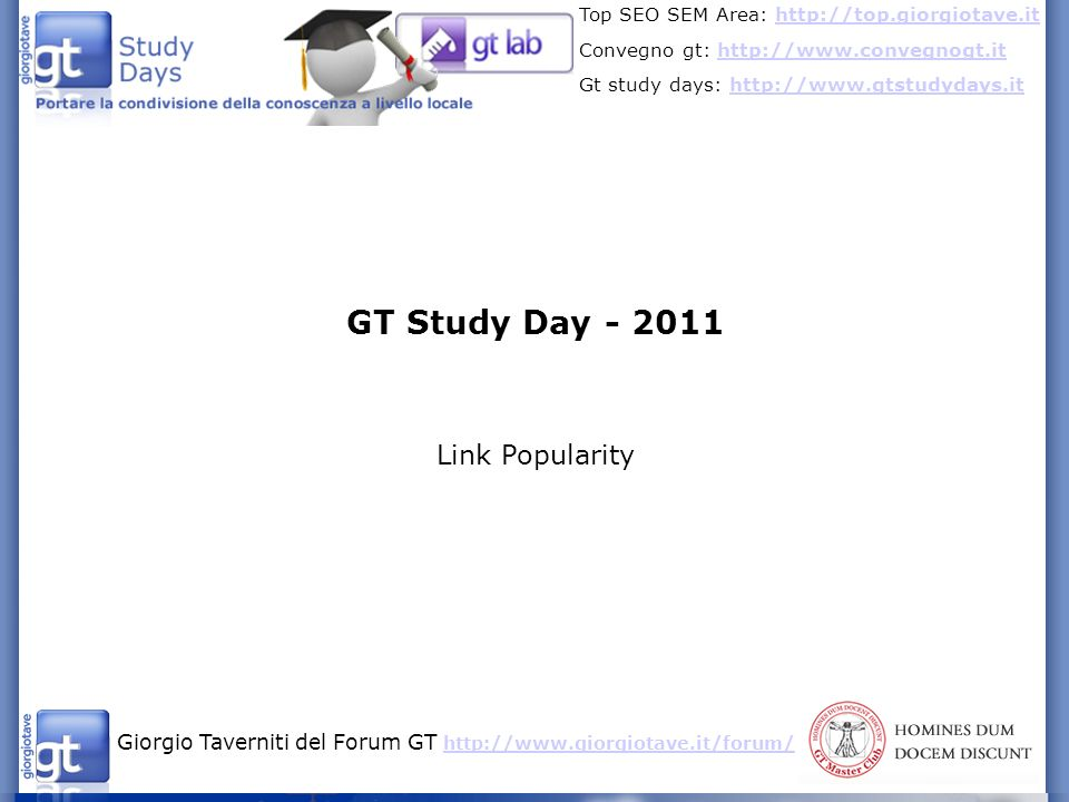 GT Study Day Link Popularity