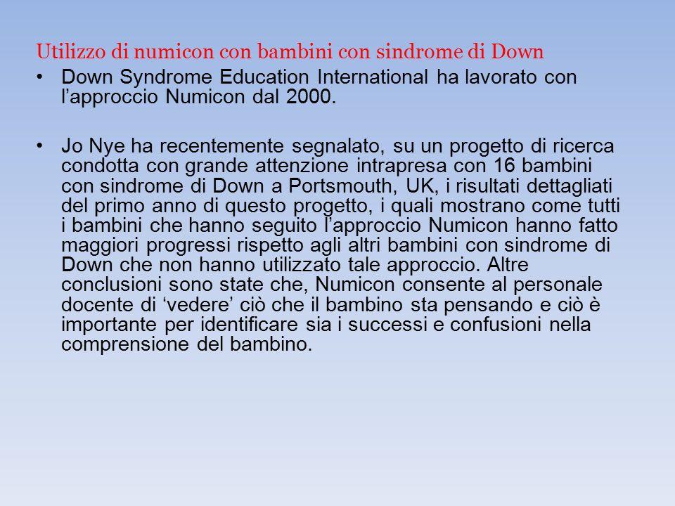 Utilizzo di numicon con bambini con sindrome di Down