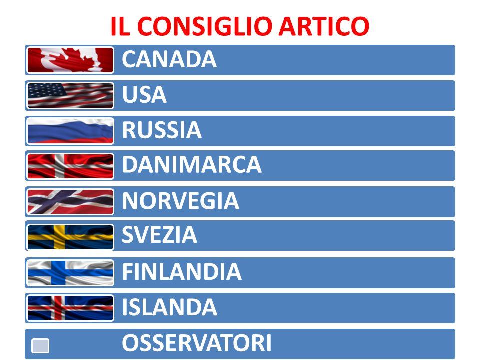 IL CONSIGLIO ARTICO CANADA USA RUSSIA DANIMARCA NORVEGIA SVEZIA