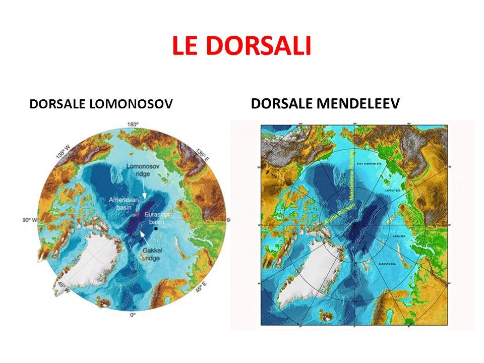 LE DORSALI DORSALE MENDELEEV DORSALE LOMONOSOV