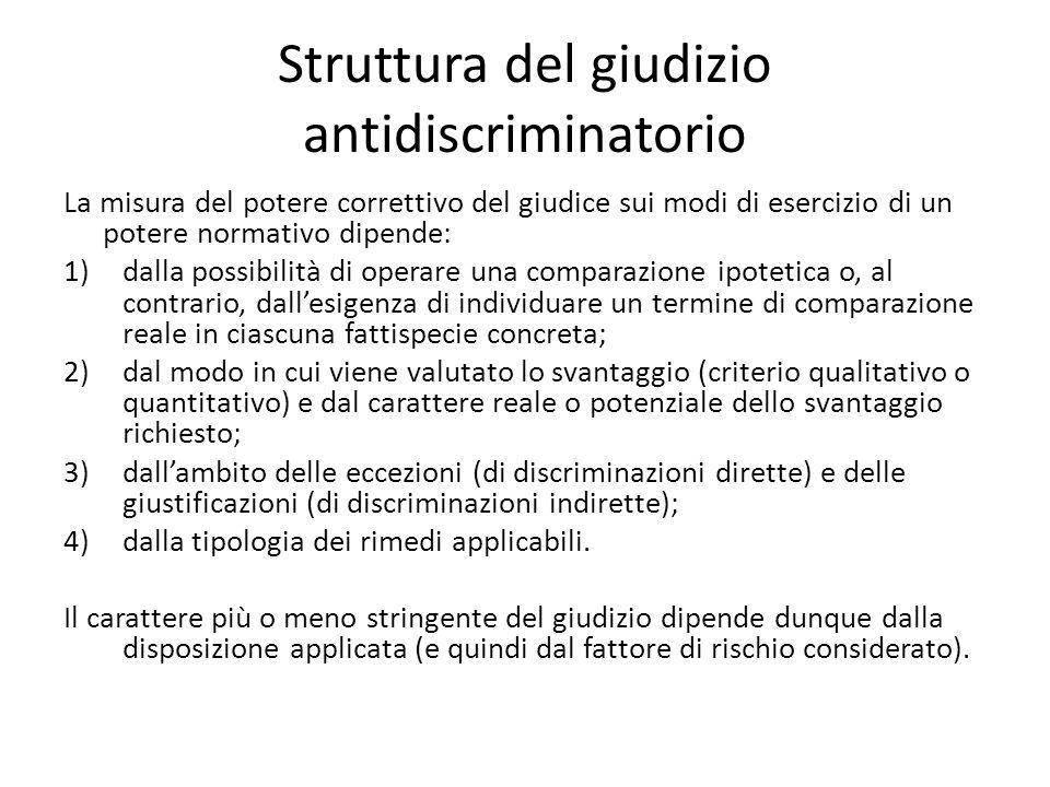 Struttura del giudizio antidiscriminatorio