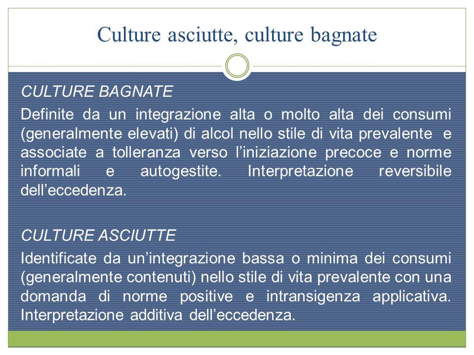 Culture asciutte, culture bagnate