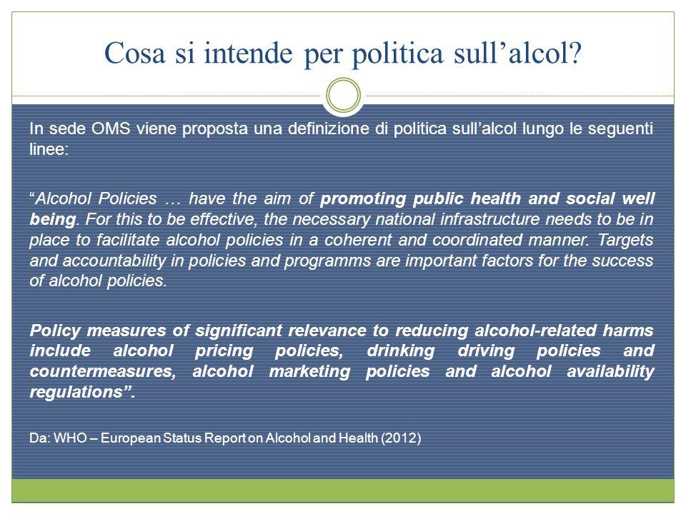 Cosa si intende per politica sull'alcol