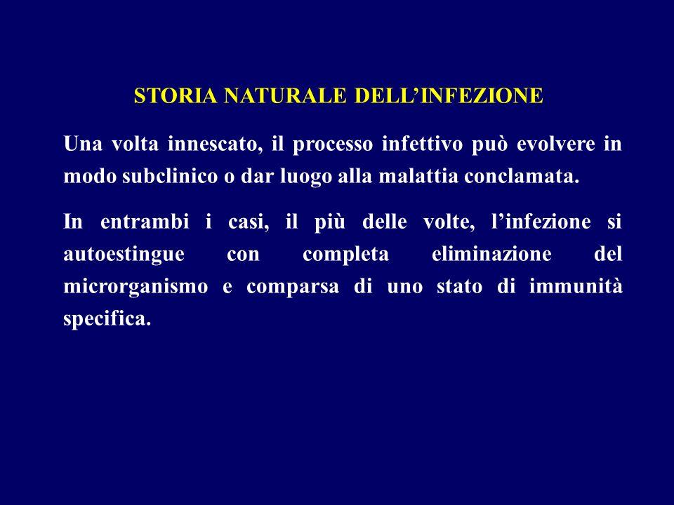STORIA NATURALE DELL'INFEZIONE