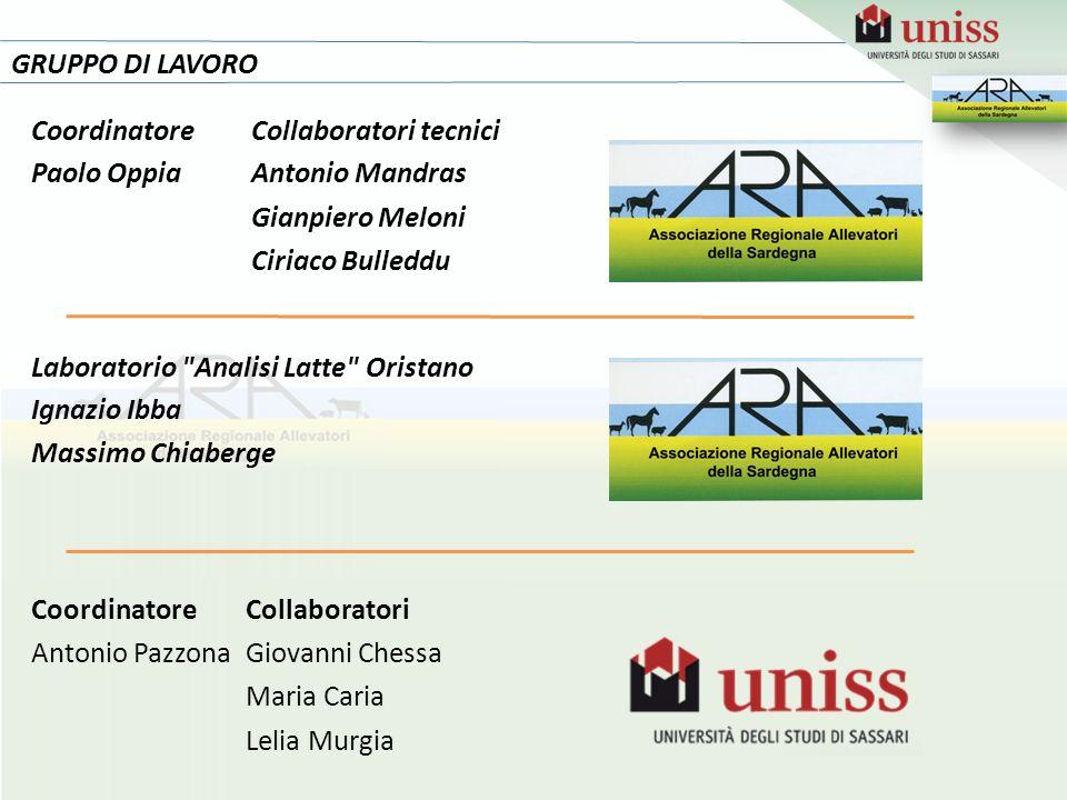 24 GRUPPO DI LAVORO Coordinatore Collaboratori tecnici Paolo Oppia