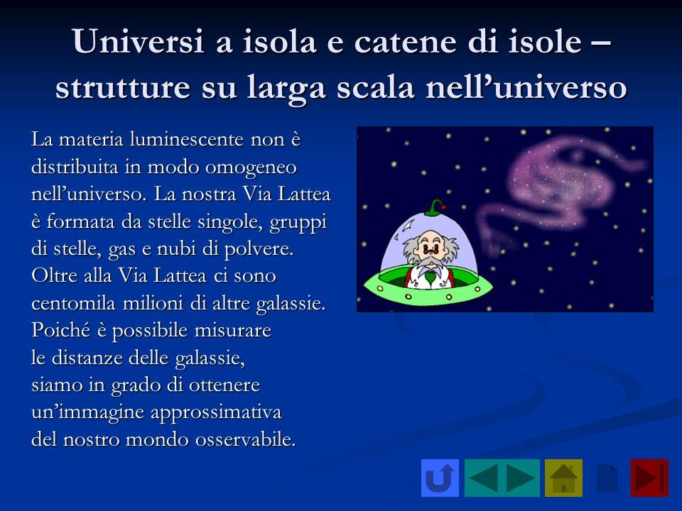 Universi a isola e catene di isole – strutture su larga scala nell'universo