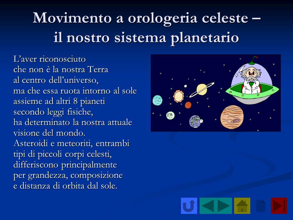 Movimento a orologeria celeste – il nostro sistema planetario