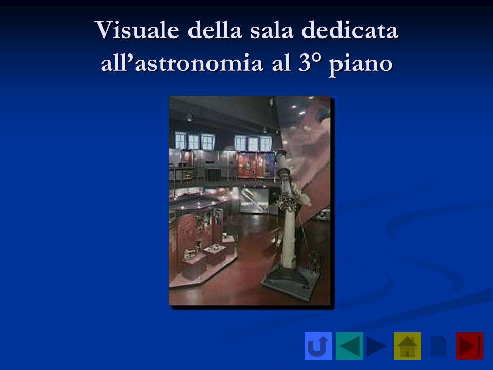 Visuale della sala dedicata all'astronomia al 3° piano