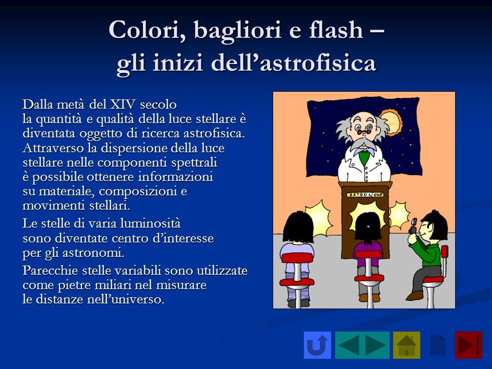 Colori, bagliori e flash – gli inizi dell'astrofisica
