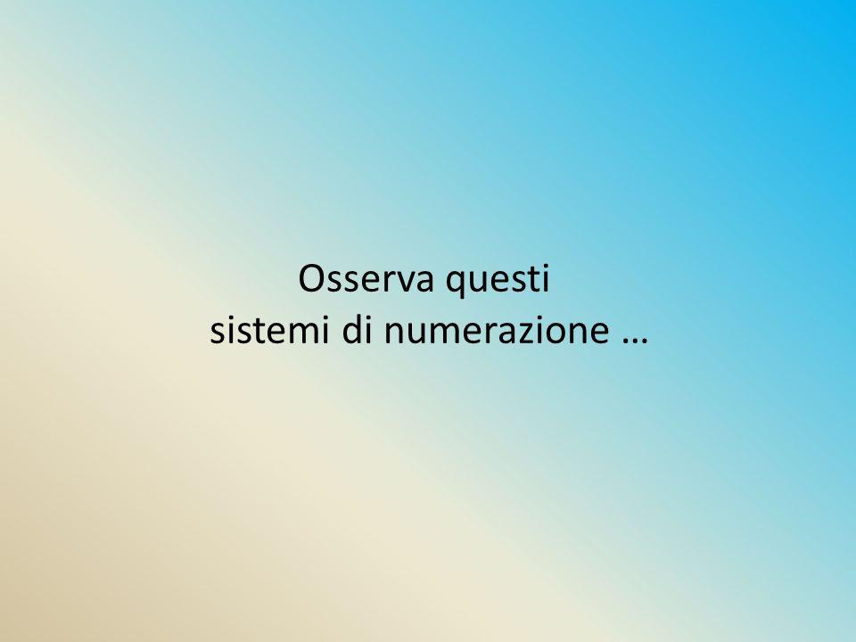 sistemi di numerazione …