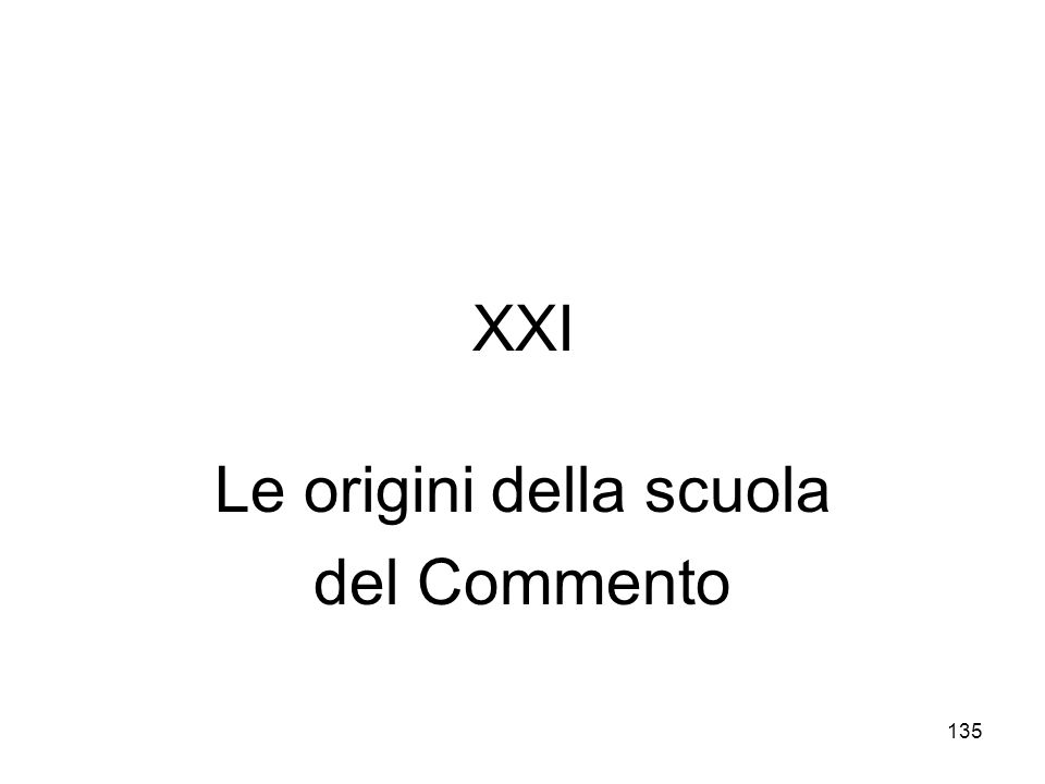 Le origini della scuola del Commento