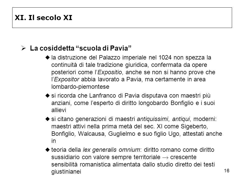 La cosiddetta scuola di Pavia