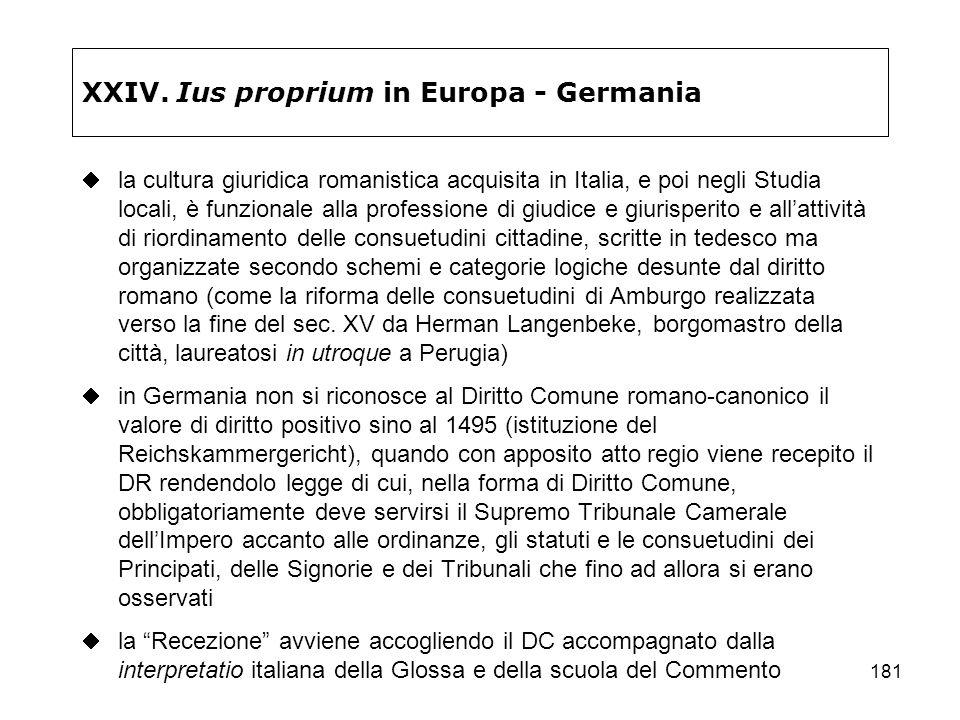 XXIV. Ius proprium in Europa - Germania