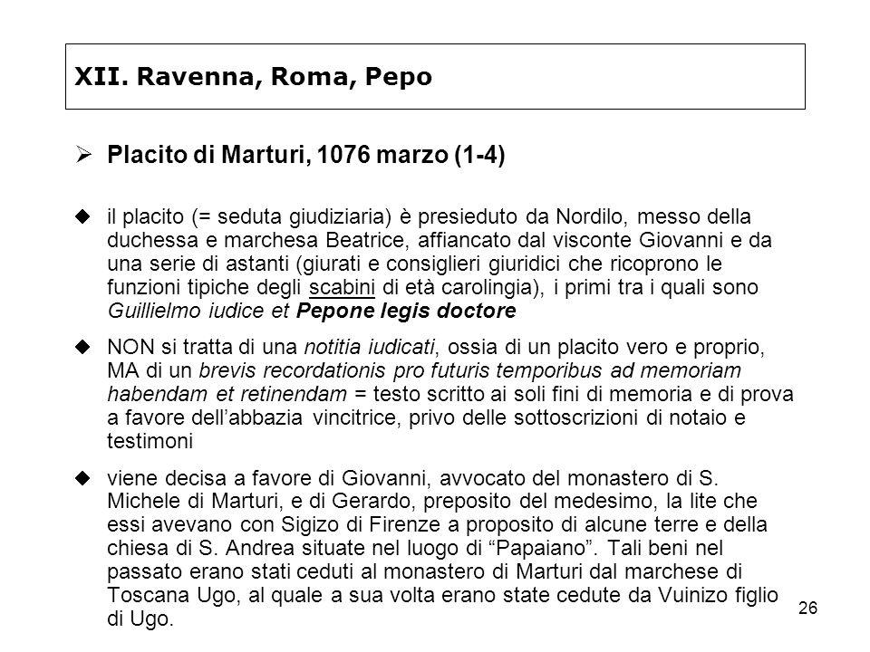 Placito di Marturi, 1076 marzo (1-4)