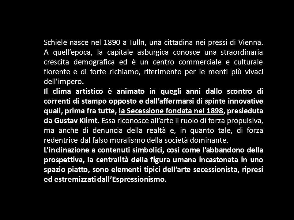Schiele nasce nel 1890 a Tulln, una cittadina nei pressi di Vienna