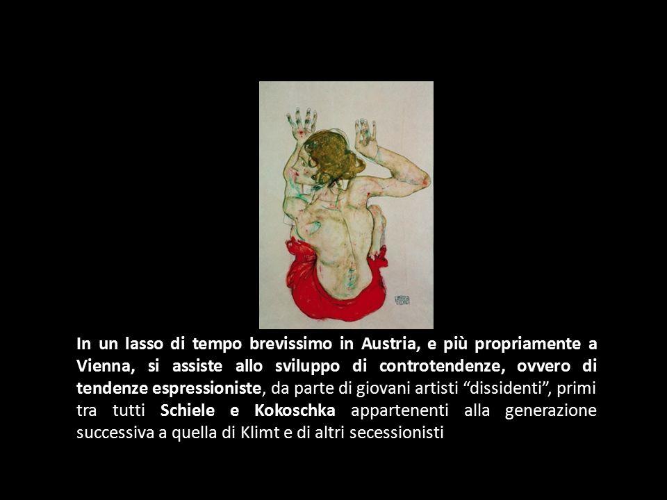 In un lasso di tempo brevissimo in Austria, e più propriamente a Vienna, si assiste allo sviluppo di controtendenze, ovvero di tendenze espressioniste, da parte di giovani artisti dissidenti , primi tra tutti Schiele e Kokoschka appartenenti alla generazione successiva a quella di Klimt e di altri secessionisti