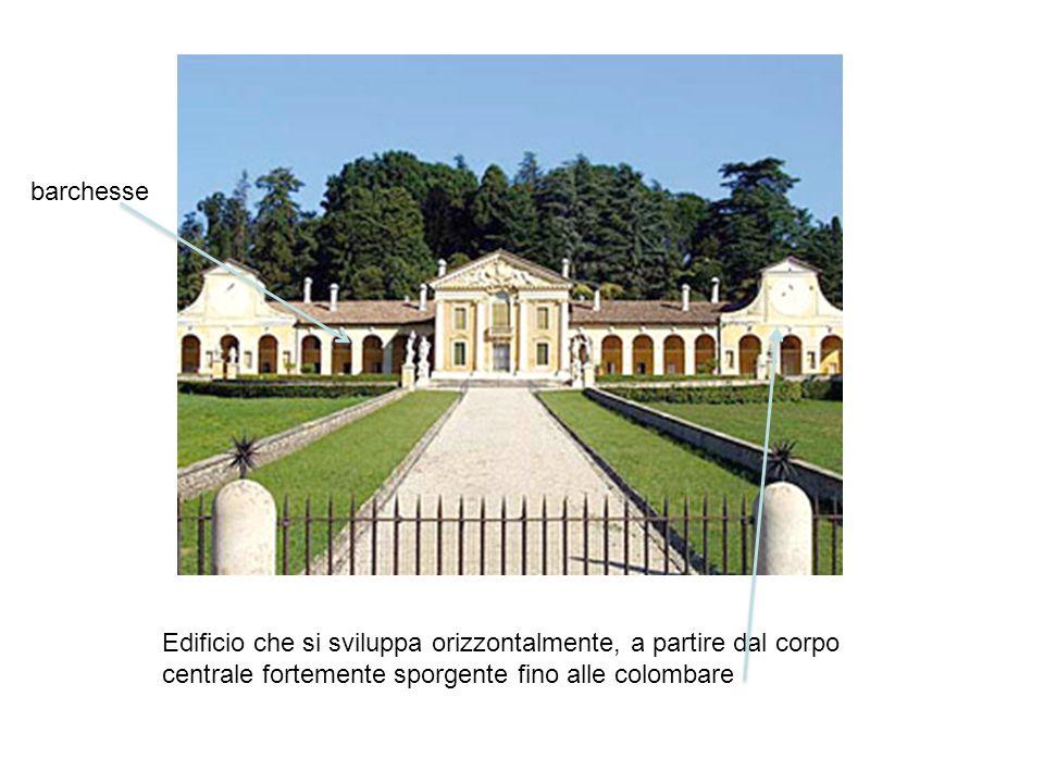 barchesse Edificio che si sviluppa orizzontalmente, a partire dal corpo centrale fortemente sporgente fino alle colombare.