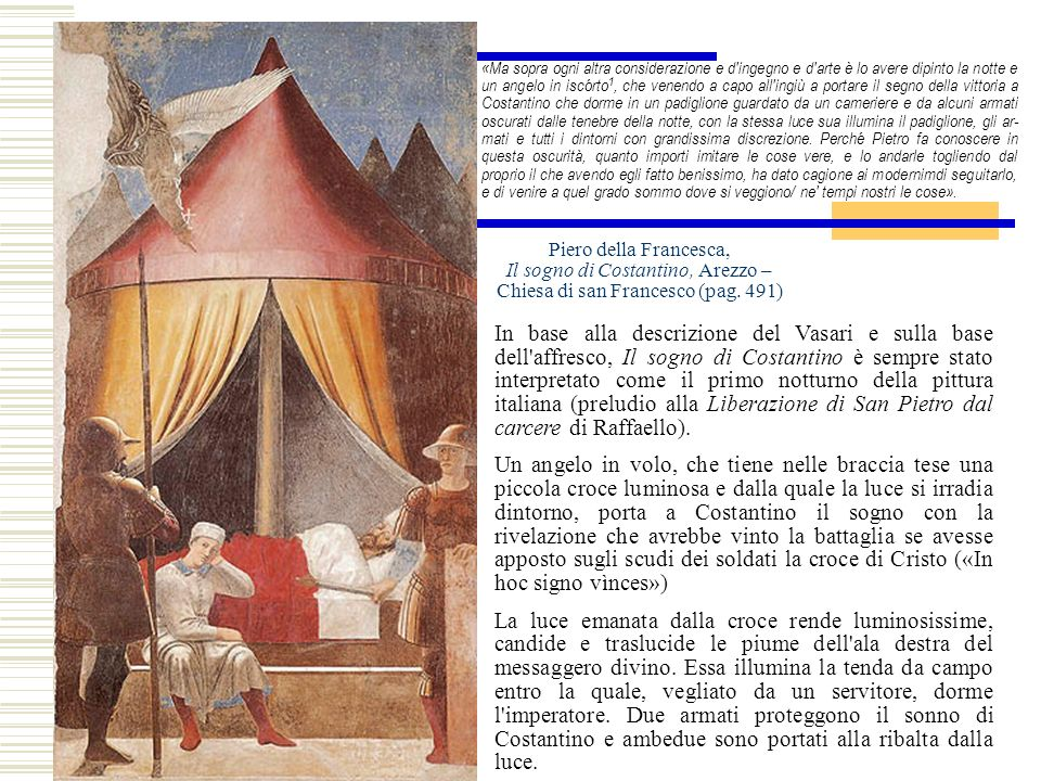 Il sogno di Costantino, Arezzo – Chiesa di san Francesco (pag. 491)