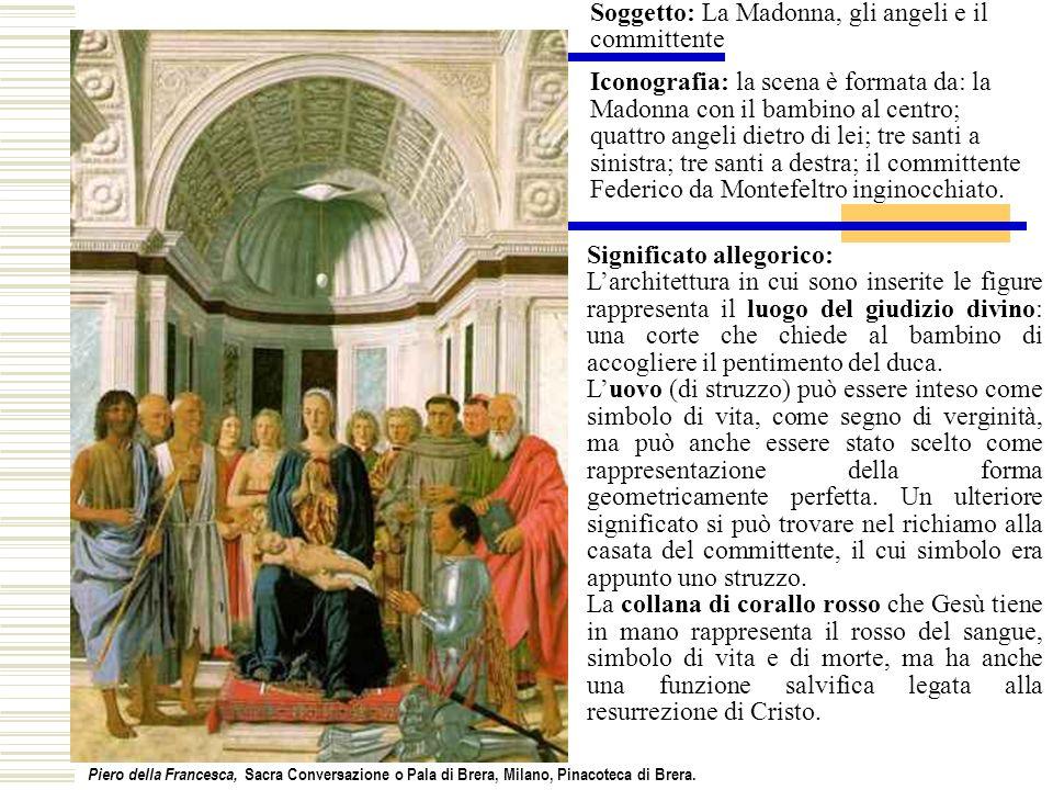 Soggetto: La Madonna, gli angeli e il committente