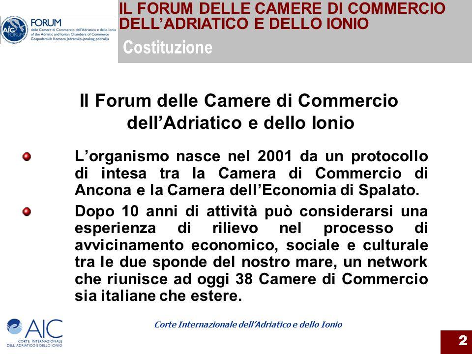 Il Forum delle Camere di Commercio dell'Adriatico e dello Ionio