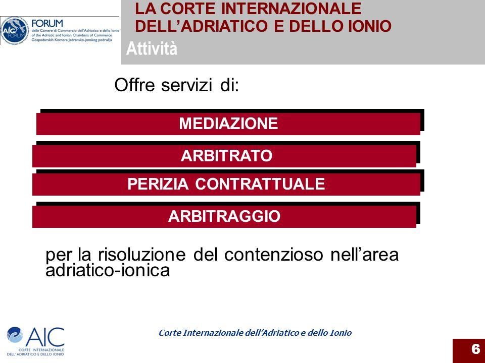 per la risoluzione del contenzioso nell'area adriatico-ionica