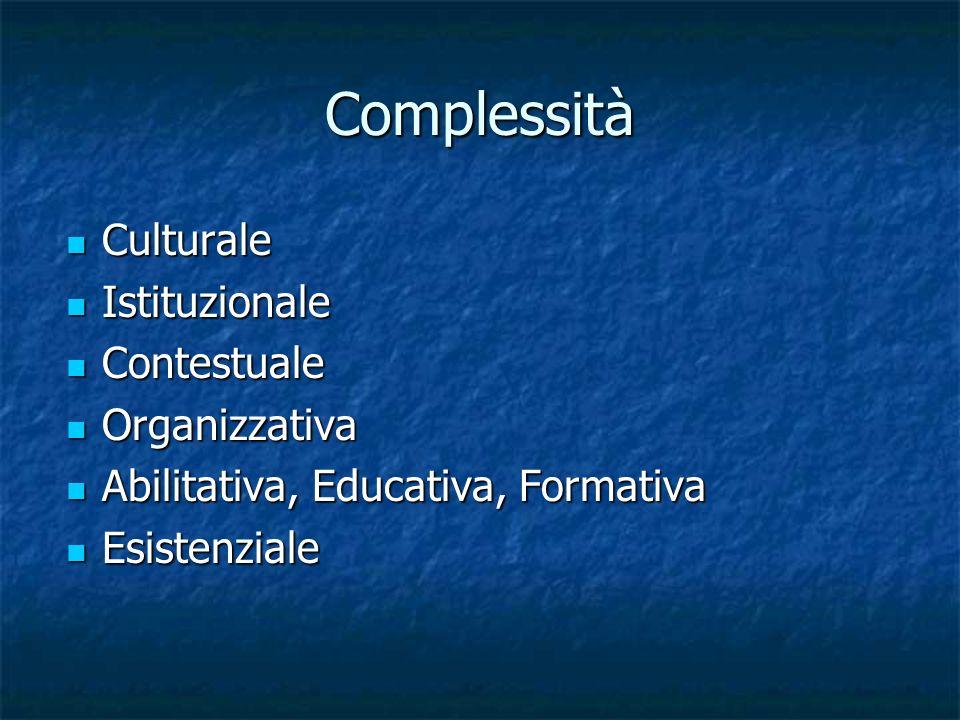 Complessità Culturale Istituzionale Contestuale Organizzativa