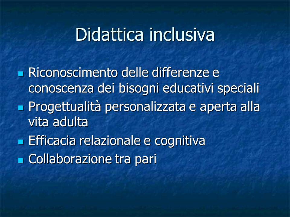 Didattica inclusiva Riconoscimento delle differenze e conoscenza dei bisogni educativi speciali.