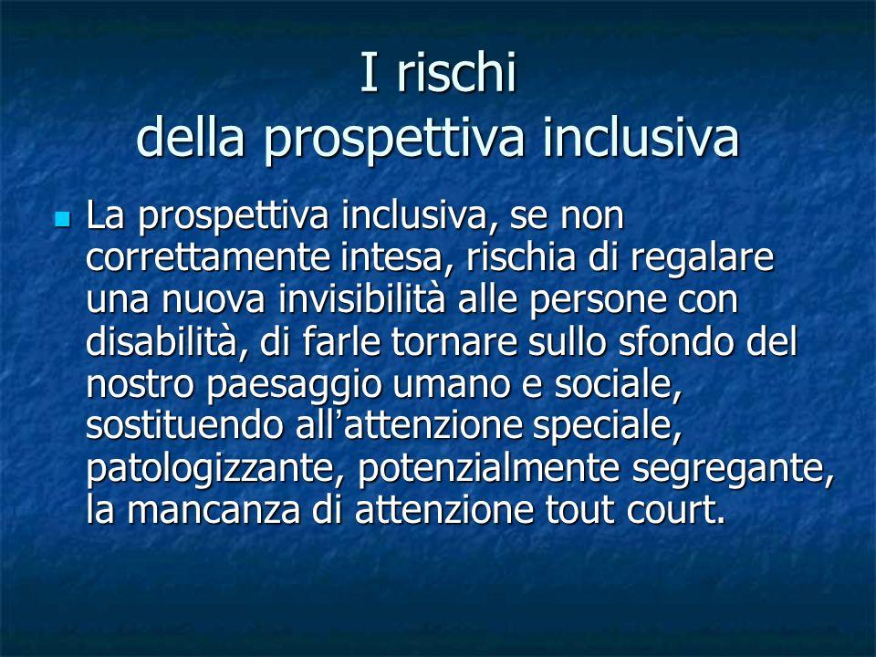 I rischi della prospettiva inclusiva