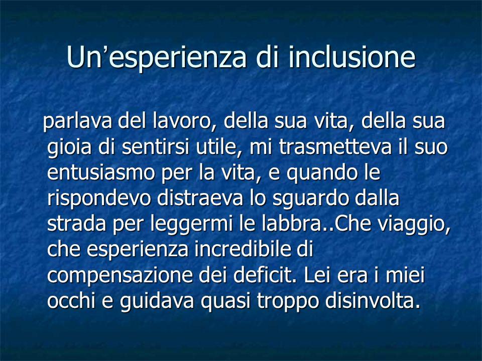 Un'esperienza di inclusione