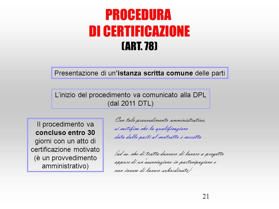 L'inizio del procedimento va comunicato alla DPL (dal 2011 DTL)
