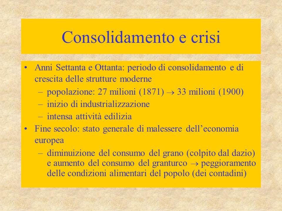 Consolidamento e crisi