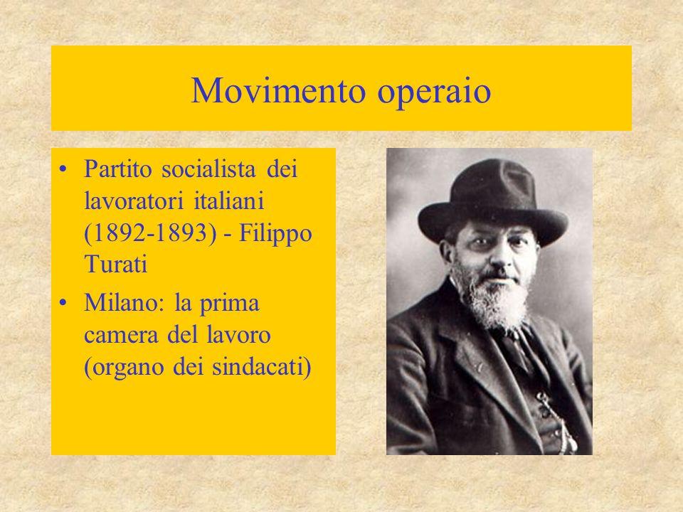 Movimento operaio Partito socialista dei lavoratori italiani (1892-1893) - Filippo Turati.