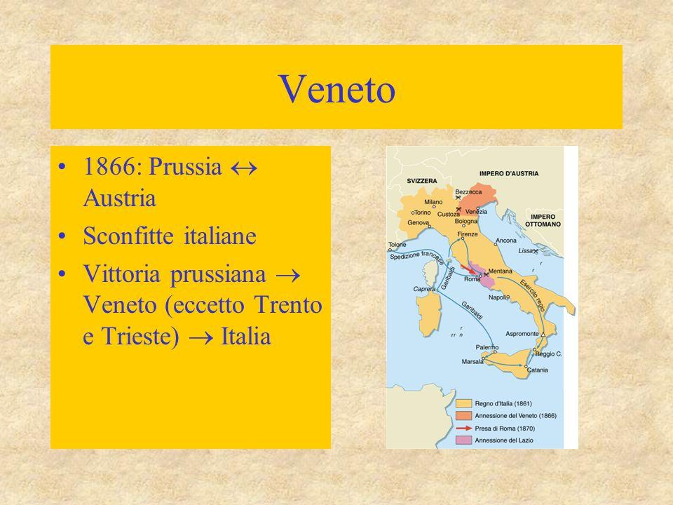 Veneto 1866: Prussia  Austria Sconfitte italiane