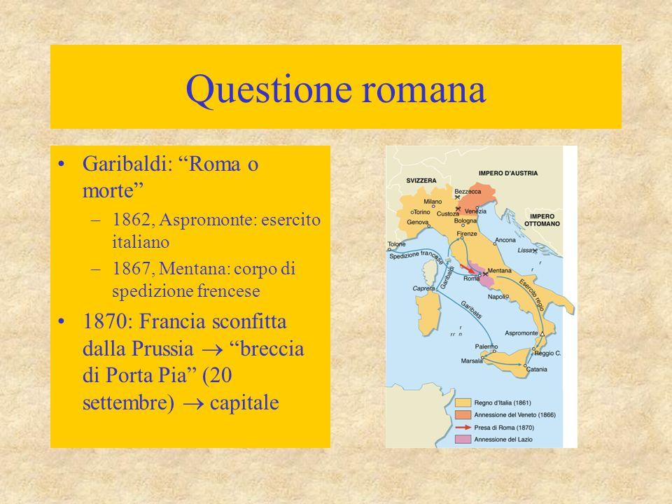Questione romana Garibaldi: Roma o morte