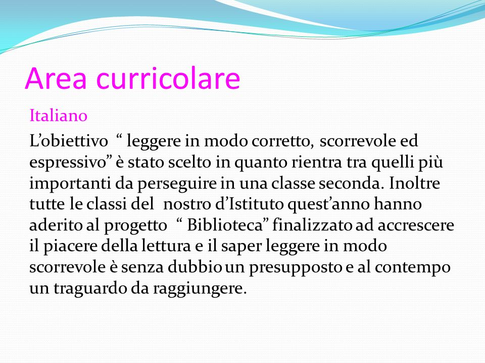 Area curricolare