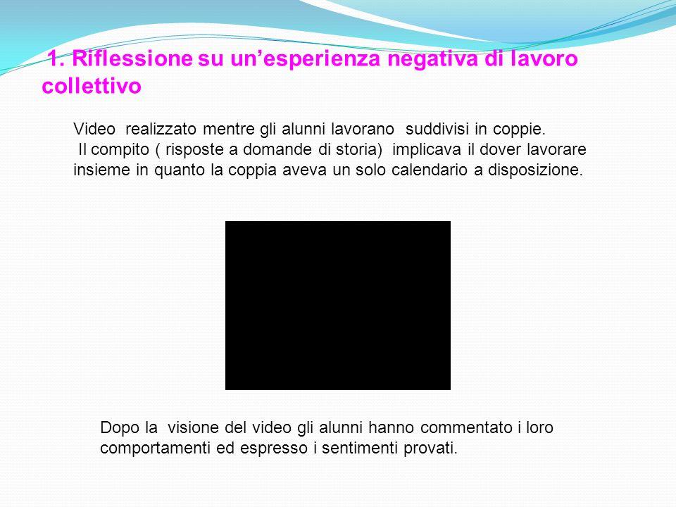 1. Riflessione su un'esperienza negativa di lavoro collettivo