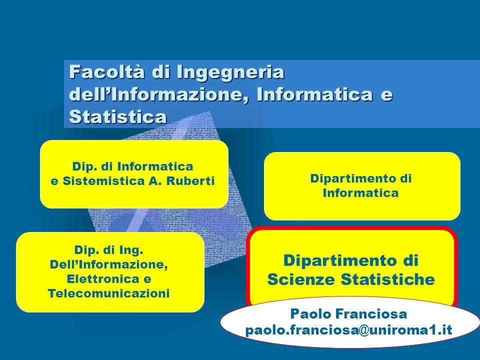 Facoltà di Ingegneria dell'Informazione, Informatica e Statistica