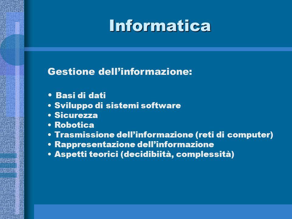 Informatica Gestione dell'informazione: Basi di dati